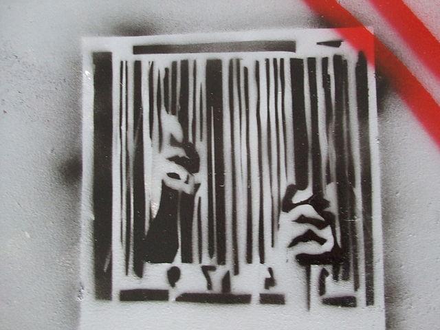 Anti-consumerist stencil art